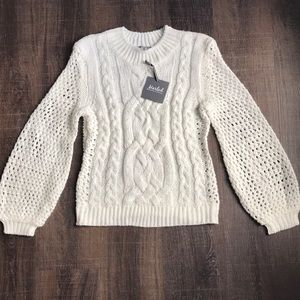 Sweaters - Marled Reunited cableknit sweater